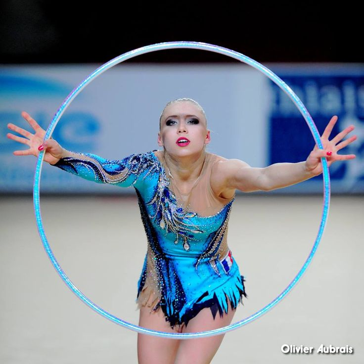 Kseniya Moustafaeva (France) got 17.600 points for hoop at Qualifications, Olympic Games 2016