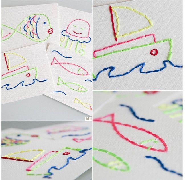 #DIY couture  à faire avec les enfants - sewing