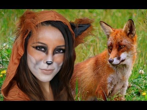 Halloween fox makeup tutorial - full face, more orange than red...good except I don't have Asian eyes.