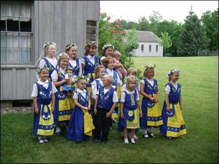 Sweden's National Costume - midsummer - the different provinces also have their own costume designs and patterns.