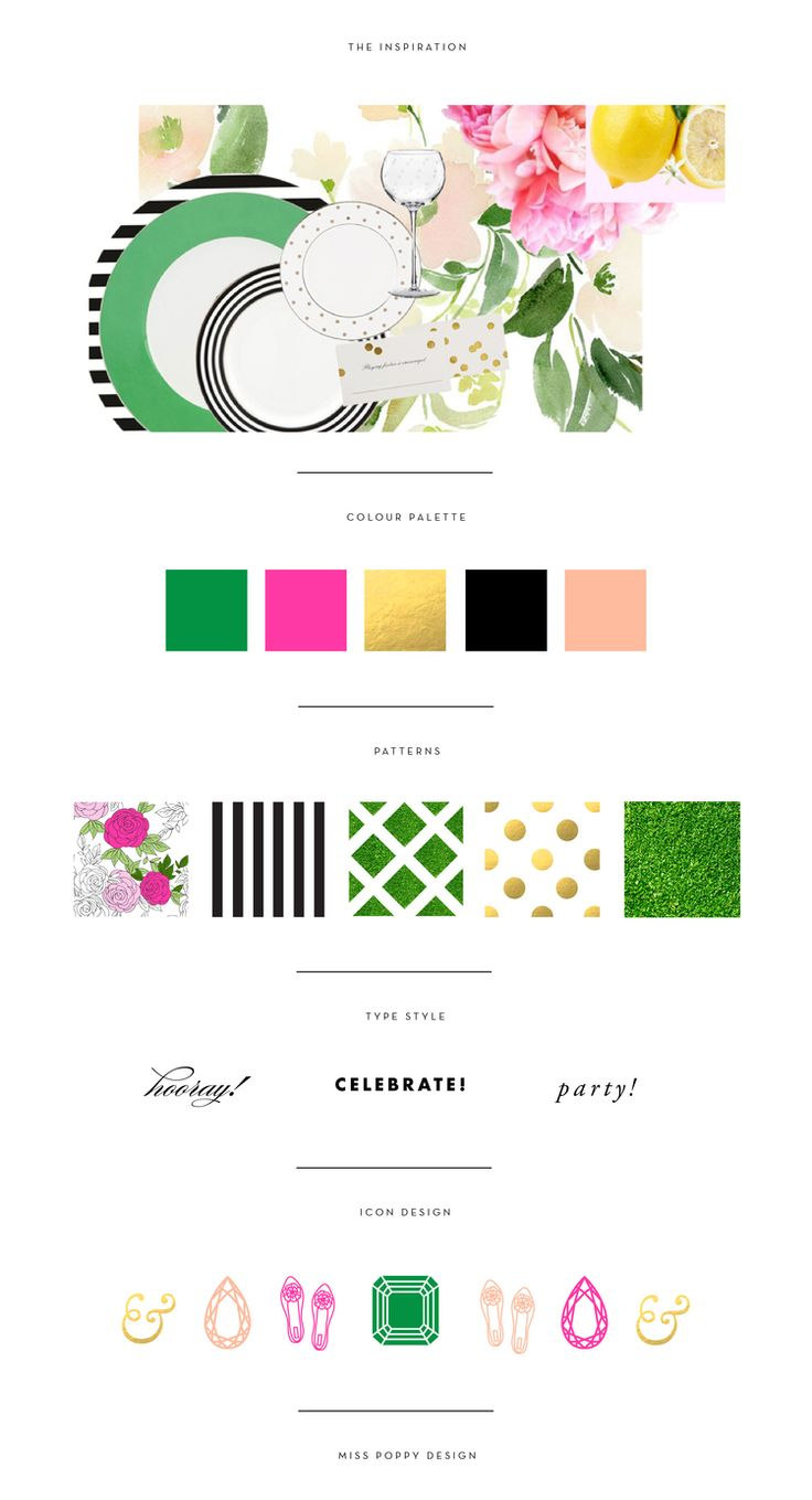 MISS POPPY DESIGN- BRAND BOARD / COLOUR PALETTE / PATTERN DESIGN / TYPOGRAPHY