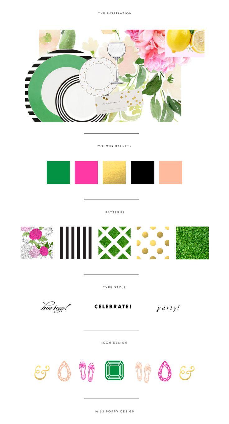 Wall Colour Inspiration: MISS POPPY DESIGN- BRAND BOARD / COLOUR PALETTE / PATTERN