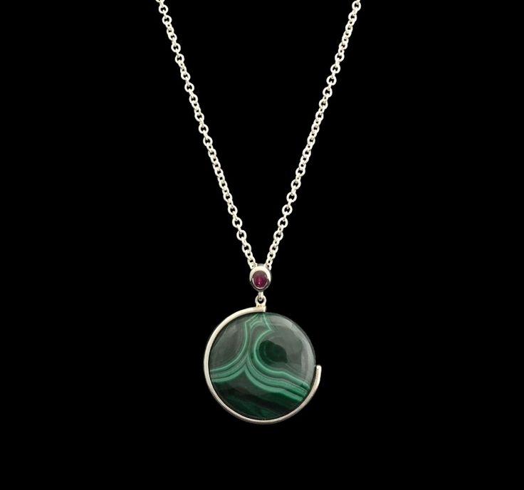 #silver #ruby #malachite #pendant #finejewellery
