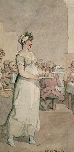 A 'waitress', Thomas Rowlandson