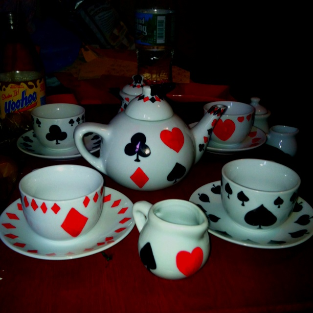 alice and wonderland tea party set