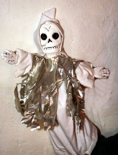 Punch & Judy puppets of the Ghost and Skeleton by Bryan Clarke ...