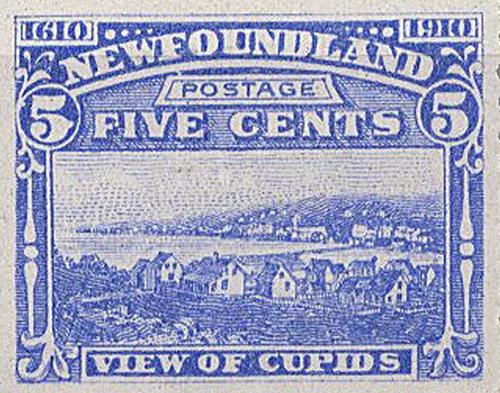 Cupids in 1910 Newfoundland Stamp