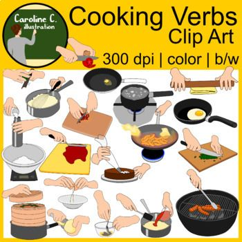 Cooking Verbs Clip Art