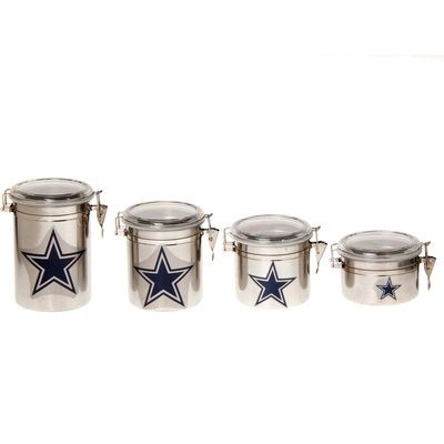 Dallas Cowboys 4-Piece Canister Set