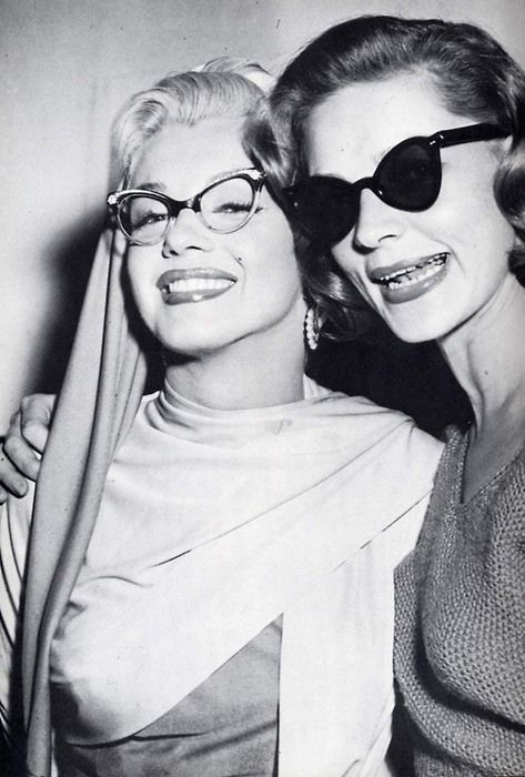 Marilyn in femininely curvy frames and Lauren Bacall looking chic behind a dark lensed pair of sunnies during the 1950s. Sanctuary Cove Optical www.sanctuarycoveoptical.com.au