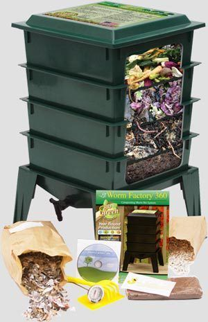 Composting with the Worm Factory 360 uses worms to do the work of breaking down waste and is more efficient and easier to manage than a traditional backyard compost pile. Worm compost has been proven