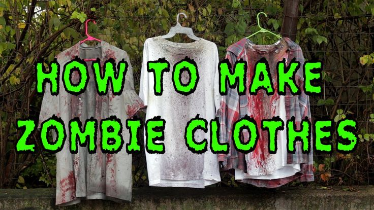 This is a tutorial on how to make custom zombie clothing. Products used in the video: Serrated Knife RIT Liquid Fabric Dye (Yellow, Dark Green, Brown, & Tan)...