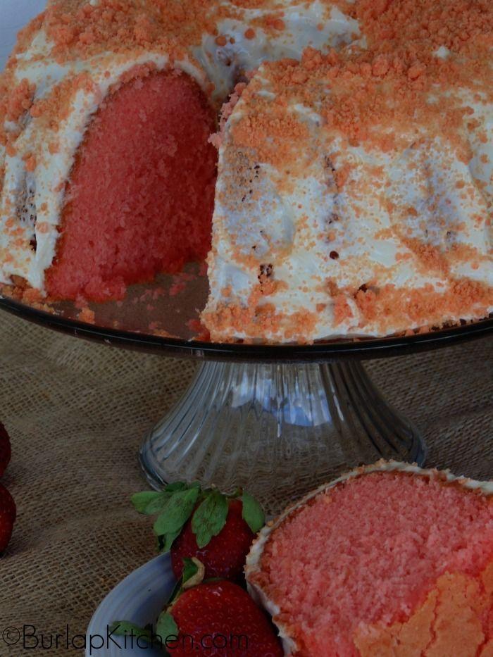Strawberry Crunch Pound Cake