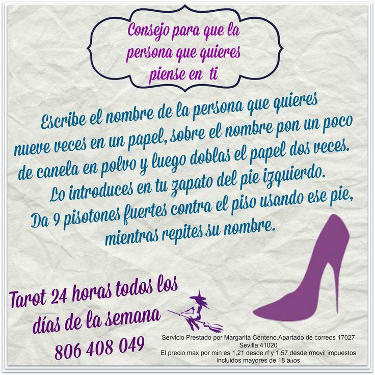 Tips Mágico para que la persona que quieres piense en ti. http://tarotverdad.blogspot.com