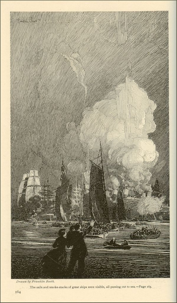 """FRANKLIN BOOTH -  """"A Remembered Dream"""" by Henry van Dyke. Scribner's Magazine, August 1917."""