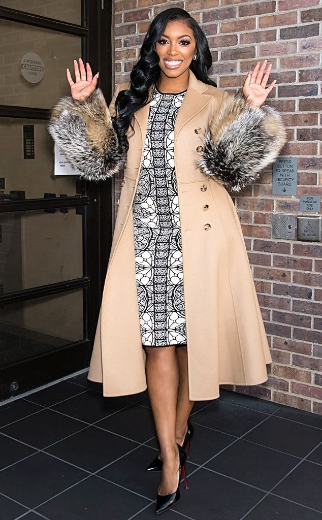 Hey girl! The Real Housewife of Atlanta star sports a fur coat as she stops by Fox 29's Good Day Philadelphia.