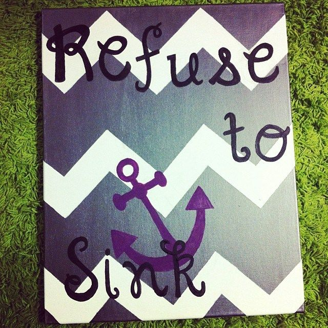 Refuse to sink diy canvas make sure you paint the for What do you use to paint on canvas