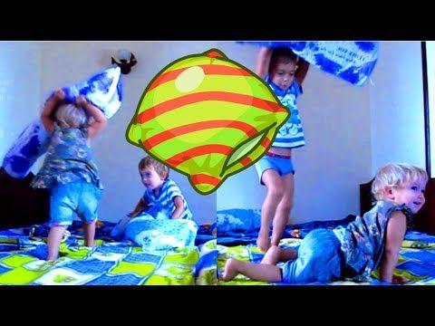 Бой подушками Игры детей Pillow Fight Prank Kids Games | Быть родителями - это просто!