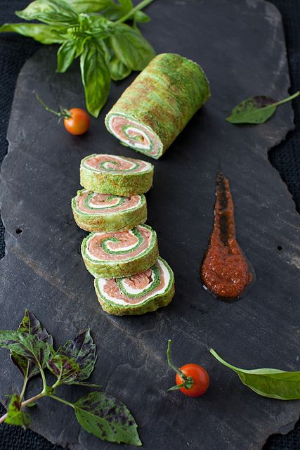 From Garden to Table - Spinach and Basil Smoked Salmon Roll by Yelena Strokin, via Flickr