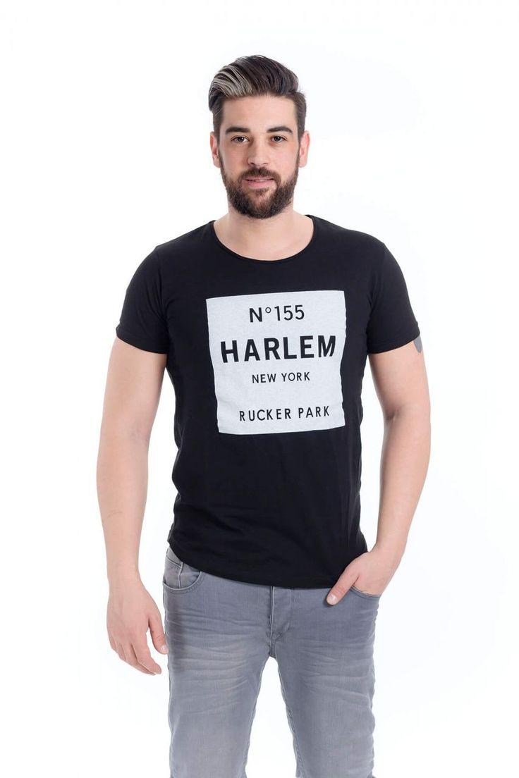 Modagen.com | Erkek Giyim, Erkeklere Özel Alışveriş Sitesi ~ Siyah Harlem Erkek Tişört