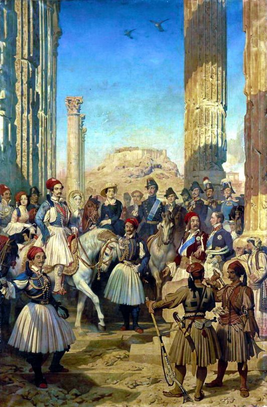 Dominique Louis Papety.. The Duke of Montpensier and his suite visiting the ruins of Athens.  Ο Δούκας του Montpensier και η ακολουθία του επισκέφτονται τα ερείπια της Αθήνας