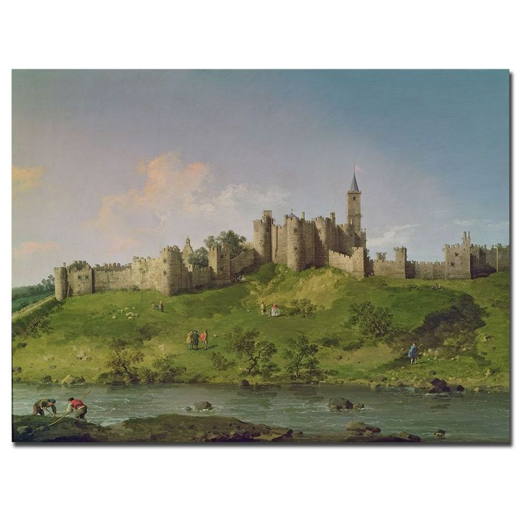 This ready to hang, gallery-wrapped art piece features a landscape of the Alnwick Castle. Canaletto was a Venetian painter, the most famous view-painter of the 18th century. He began work painting the