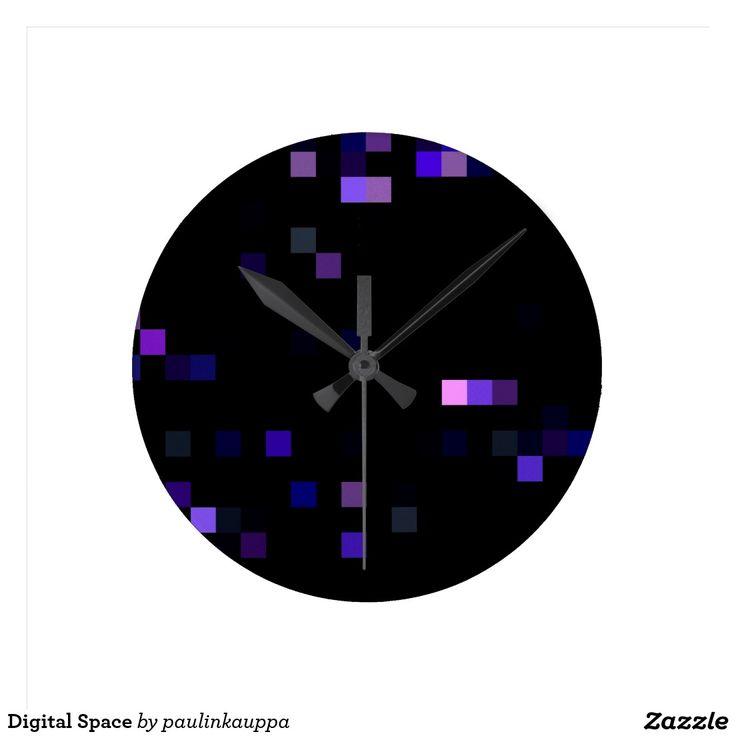 Digital Space Round Clock