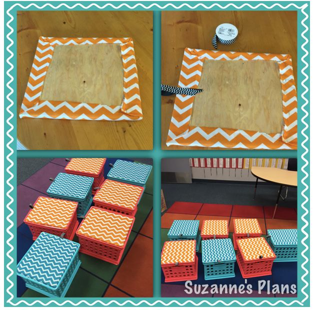 suzannesplans | How to Make Crate Seats For Your Classroom