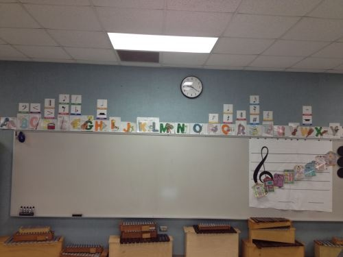 ABC's of MUSIC - Decorate your classroom! Great ideas on this blog (check out live binders on this teacher's blog)