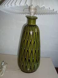 KÄHLER ceramics lampefod  H: 39 cm uden fatning. D: 18 cm. År ca./year about 1940-50s. Sign: HAK. From Klitgaarden Antiques & Ceramics, Denmark www.Klitgaarden.net