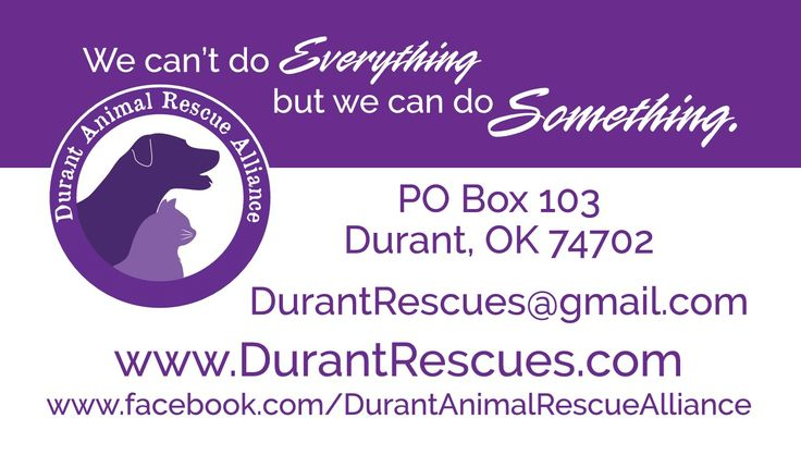 Pin by Durant Animal Rescue Alliance on Durant Animal
