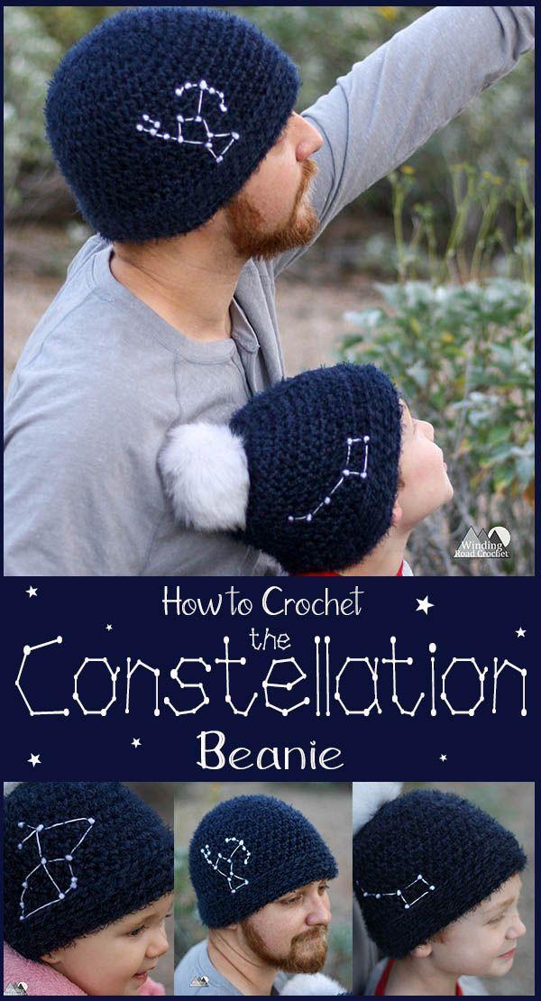 Constellation Beanie Crochet Free Pattern