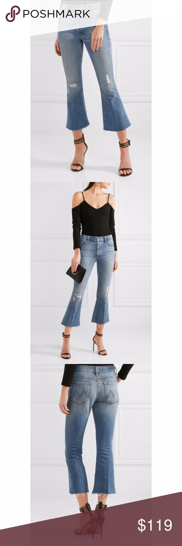 """New Mother the Nomad Crop Fray Jeans Mother the Nomad Crop Fray Womens Cropped Jeans - Twice as Nice   Made in USA    60% Cotton / 40% Lyocell  New with tags.    MEASUREMENTS (Based on Size 28) Waist:  16"""" flat across Rise:  9"""" Inseam: 23""""  All items I sell are 100% authentic! Buy with Confidence.  246022 245922 MOTHER Jeans Skinny"""