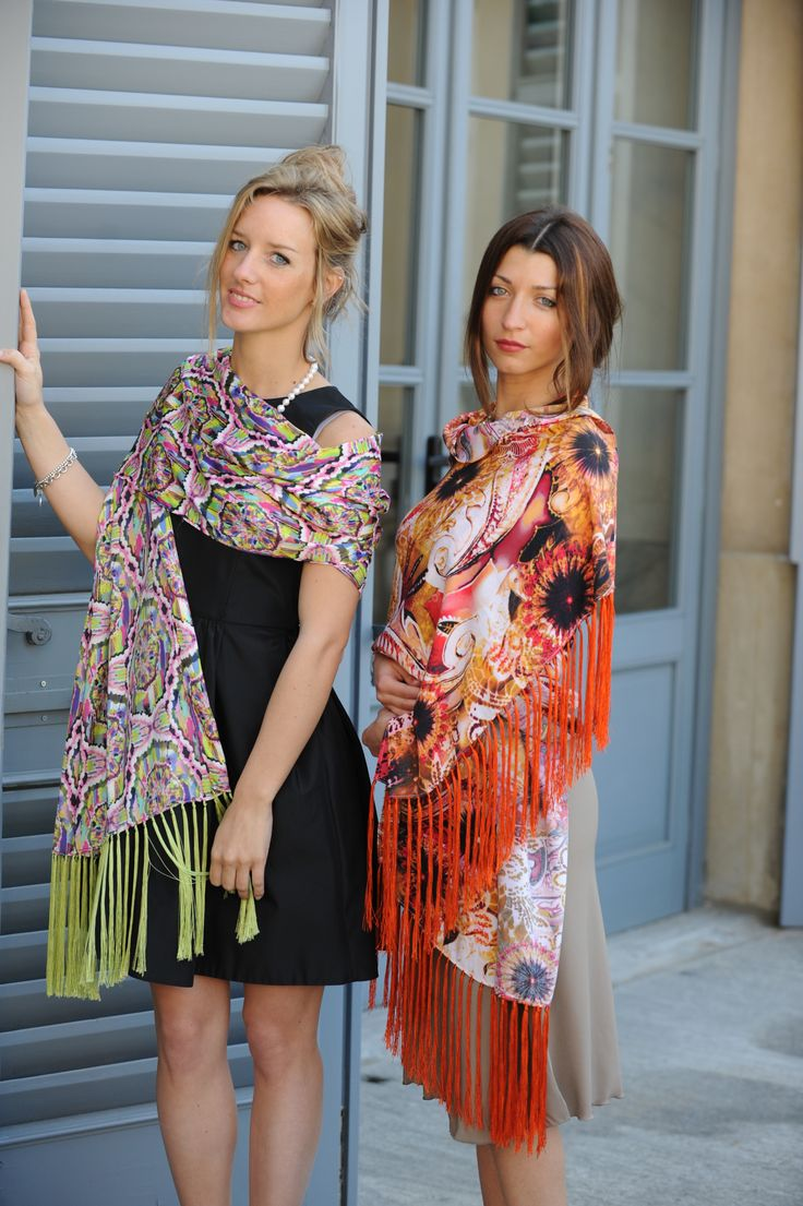 Look at our new #spring #summer #collection #Shawls and #scarves by #MarinaFinzi #Italy #Monza #HandMade