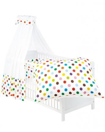 Attractive Bett Set 4 Teilig (100x135/40x60) DOTS In Bunt