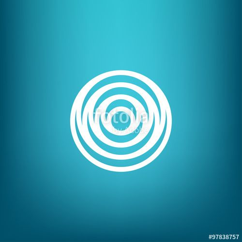 Vector: Vector Minimalistic Linear Water Ripple Circles Concentric Round Shape…