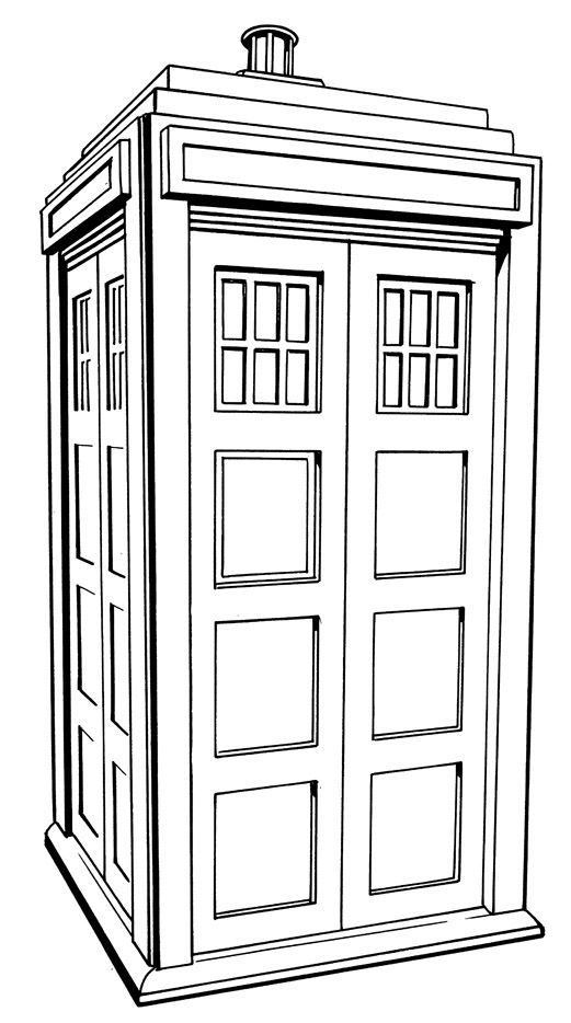 tardis coloring page google search