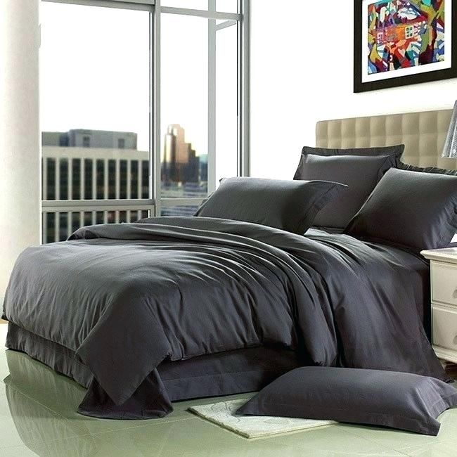Dark Grey Comforter 200 Gsm Box Pattern Bliss Sateen Mens