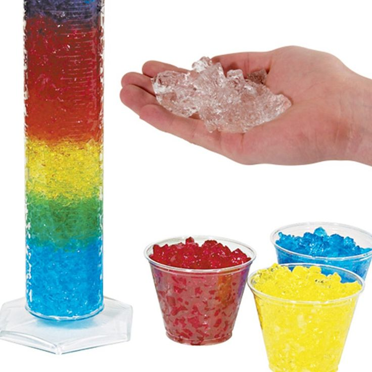 Water Jelly Crystals - Colored   Early Childhood Activities   Collections   Steve Spangler Science $29.99 for 1/2lb of red, yellow and blue