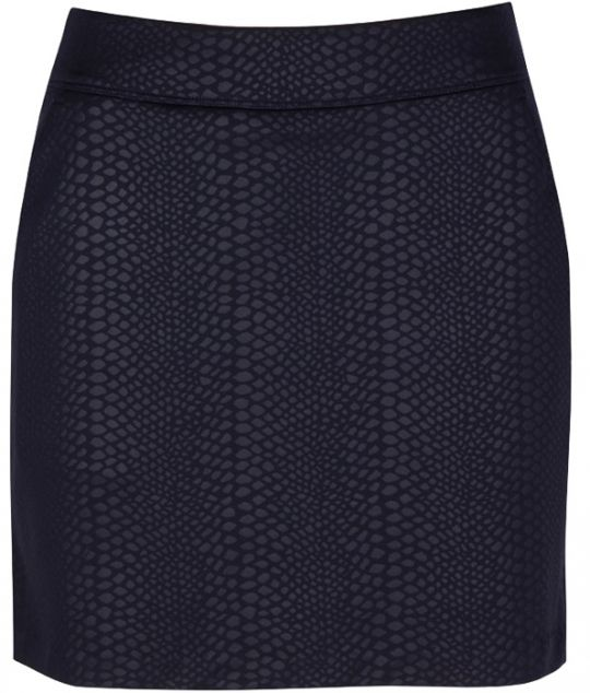 Navy Greg Norman Ladies Embossed Python Knit Golf Skort. More stylish ladies outfits at #lorisgolfshoppe