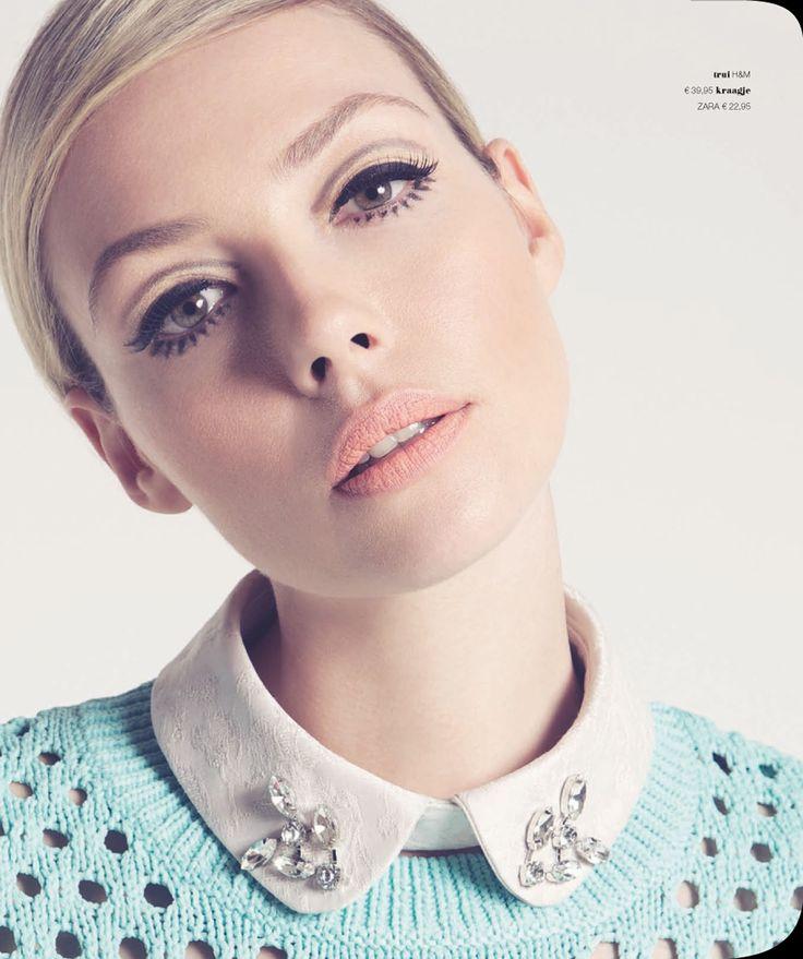 Renate Verbaan In 60's Make Up