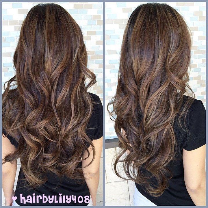 """Natural balayage highlights.  #hairbylily408 #colorist #lorealprous #smokey #balayage #baliage #ombre #ombrehighlights #balayageombre #ombrehair…"""