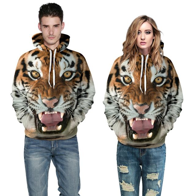 Check current price Couple Casual Hoodies Men 2016 Brand Sweatshirt 3D Print Long Full Sleeve Hooded Tiger Hoodie Cotton O-neck Fashion Lovers Hoody just only $16.09 with free shipping worldwide  #hoodiessweatshirtsformen Plese click on picture to see our special price for you