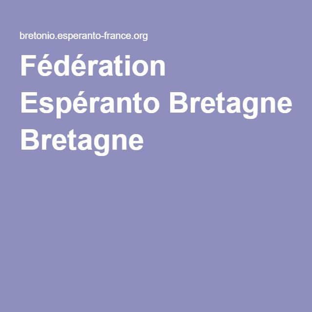 Fédération Espéranto Bretagne