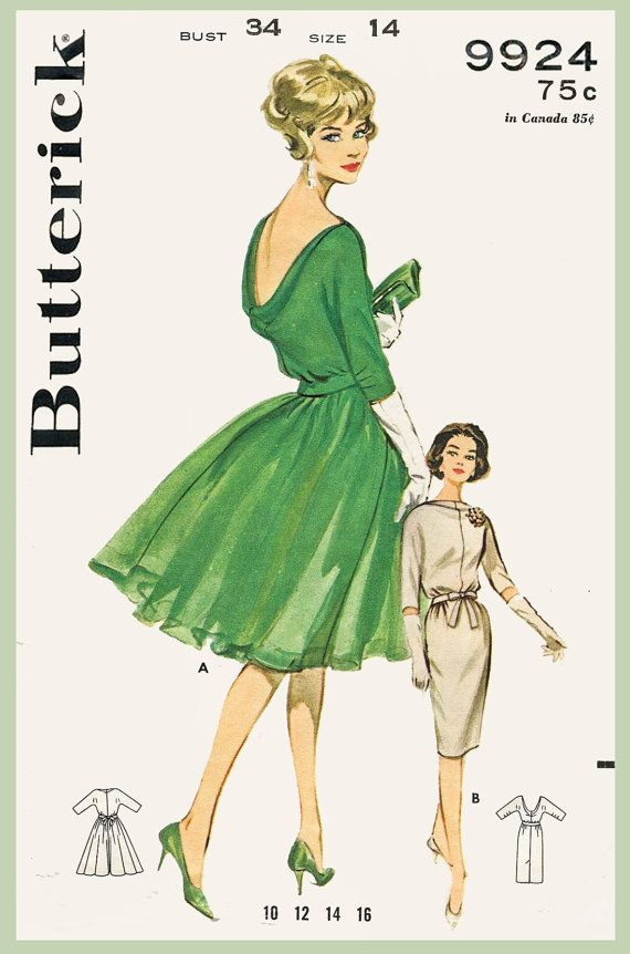 patron de couture vintage des années 1960 par LadyMarloweStudios