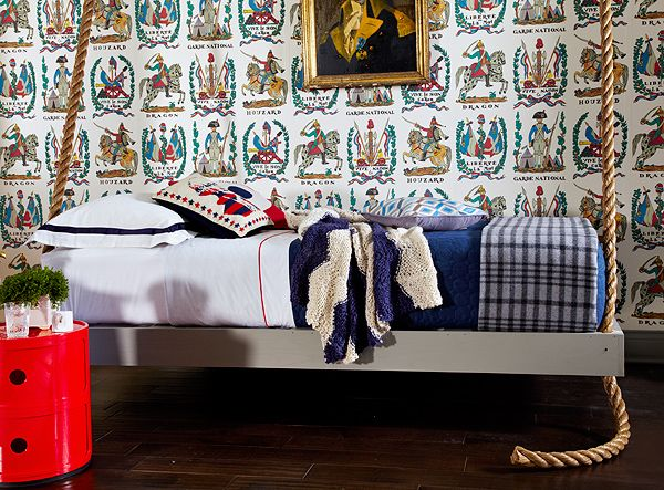 D Magazine : A Child's Room Worth Exploring. Great wallpaper by Brunschwig and Fils