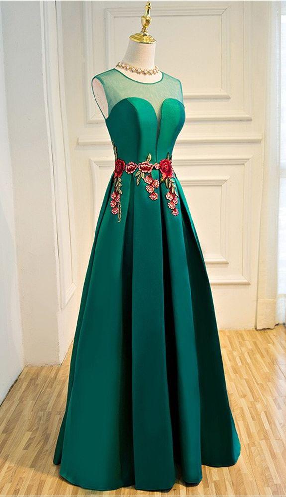 elegant party dress evening dresses Vestido de Festa appliques gown see through opening back