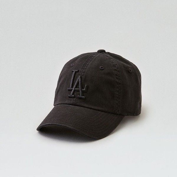 American Needle LA Dodgers Baseball Hat (£23) ❤ liked on Polyvore featuring men's fashion, men's accessories, men's hats, black, american eagle outfitters, ball cap, dodgers hat, baseball hats and los angeles dodgers hats