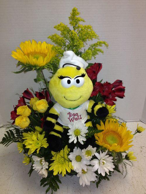 Get Well Soon Bumble Bee Designed By Pamela E Smith Roadrunner Florist Basket Express