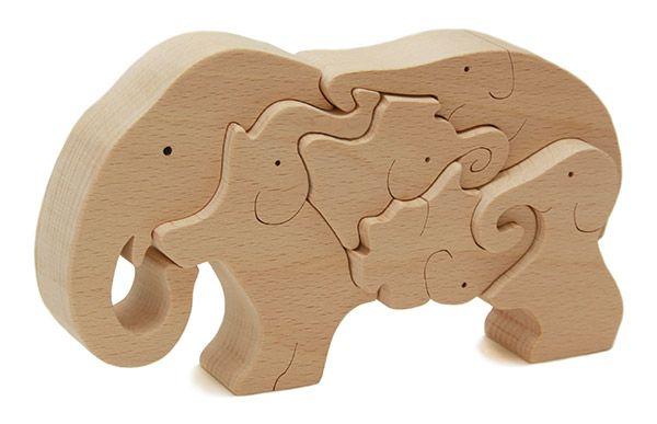 Ginga Kobo Toys | Rakuten Global Market: Elephant Puzzle Wooden Toys (Ginga Kobo Toys) Japan